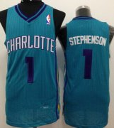 Wholesale Cheap Charlotte Hornets #1 Lance Stephenson Green Swingman Jersey