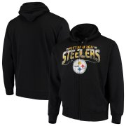 Wholesale Cheap Pittsburgh Steelers G-III Sports by Carl Banks Perfect Season Full-Zip Hoodie Black