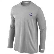 Wholesale Cheap Nike Indianapolis Colts Sideline Legend Authentic Logo Long Sleeve T-Shirt Grey