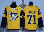 Wholesale Cheap Penguins #71 Evgeni Malkin Gold 2017 Stadium Series Stanley Cup Finals Champions Stitched NHL Jersey