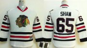 Wholesale Cheap Blackhawks #65 Andrew Shaw White Stitched Youth NHL Jersey
