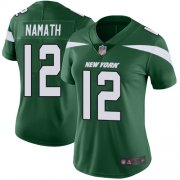 Wholesale Cheap Nike Jets #12 Joe Namath Green Team Color Women's Stitched NFL Vapor Untouchable Limited Jersey