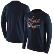 Wholesale Cheap Detroit Tigers Nike Practice Long Sleeve T-Shirt Navy