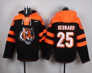 Wholesale Cheap Nike Bengals #25 Giovani Bernard Black Player Pullover NFL Hoodie