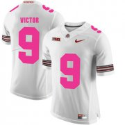 Wholesale Cheap Ohio State Buckeyes 9 Binjimen Victor White 2018 Breast Cancer Awareness College Football Jersey