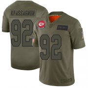 Wholesale Cheap Nike Chiefs #92 Tanoh Kpassagnon Camo Youth Stitched NFL Limited 2019 Salute to Service Jersey