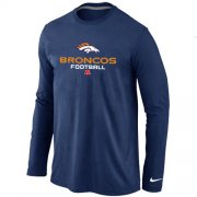 Wholesale Cheap Nike Denver Broncos Critical Victory Long Sleeve T-Shirt Dark Blue