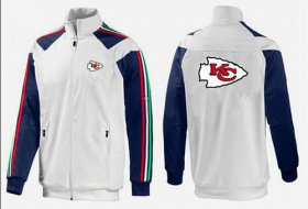 Wholesale NFL Kansas City Chiefs Team Logo Jacket White_2