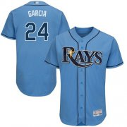 Wholesale Cheap Rays #24 Avisail Garcia Light Blue Flexbase Authentic Collection Stitched MLB Jersey