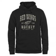 Wholesale Cheap Men's Detroit Red Wings Black Camo Stack Pullover Hoodie