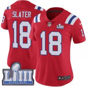 Wholesale Cheap Nike Patriots #18 Matt Slater Red Alternate Super Bowl LIII Bound Women's Stitched NFL Vapor Untouchable Limited Jersey