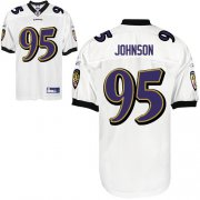 Wholesale Cheap Ravens #95 Jarret Johnson White Stitched NFL Jersey