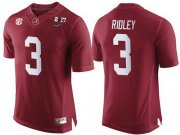 Wholesale Cheap Men's Alabama Crimson Tide #3 Calvin Ridley Red 2017 Championship Game Patch Stitched CFP Nike Limited Jersey