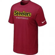 Wholesale Cheap Nike Pittsburgh Steelers Sideline Legend Authentic Font Dri-FIT NFL T-Shirt Red