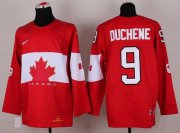 Wholesale Cheap Olympic 2014 CA. #9 Matt Duchene Red Stitched NHL Jersey