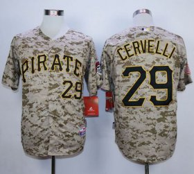 Wholesale Cheap Pirates #29 Francisco Cervelli Camo Alternate Cool Base Stitched MLB Jersey