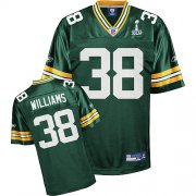 Wholesale Cheap Packers #38 Tramon Williams Green Super Bowl XLV Stitched NFL Jersey