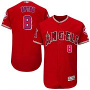 Wholesale Cheap Angels of Anaheim #8 Justin Upton Red Flexbase Authentic Collection Stitched MLB Jersey