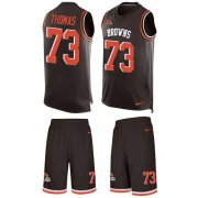 Wholesale Cheap Nike Browns #73 Joe Thomas Brown Team Color Men's Stitched NFL Limited Tank Top Suit Jersey