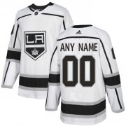 Wholesale Cheap Men's Adidas Kings Personalized Authentic White Road NHL Jersey