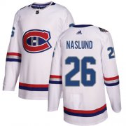 Wholesale Cheap Adidas Canadiens #26 Mats Naslund White Authentic 2017 100 Classic Stitched NHL Jersey