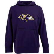 Wholesale Cheap Antigua Baltimore Ravens Signature Pullover Hoodie Purple