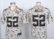 Wholesale Cheap Nike 49ers #52 Patrick Willis Camo USMC Men's Stitched NFL Elite Jersey