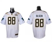Wholesale Nike Panthers #88 Greg Olsen White 2016 Pro Bowl Men's Stitched NFL Elite Jersey