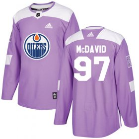 Wholesale Cheap Adidas Oilers #97 Connor McDavid Purple Authentic Fights Cancer Stitched Youth NHL Jersey
