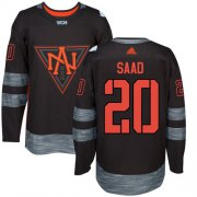 Wholesale Cheap Team North America #20 Brandon Saad Black 2016 World Cup Stitched NHL Jersey