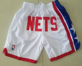 Wholesale Cheap Men\'s Brooklyn Nets White Just Don Shorts Swingman Shorts
