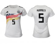 Wholesale Cheap Women's Germany #5 Hummels White Home Soccer Country Jersey
