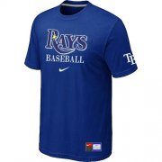 Wholesale Cheap Tampa Bay Rays Nike Short Sleeve Practice MLB T-Shirt Blue