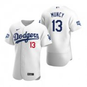 Wholesale Cheap Los Angeles Dodgers #13 Max Muncy White 2020 World Series Champions Jersey