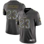 Wholesale Cheap Nike Saints #23 Marshon Lattimore Gray Static Youth Stitched NFL Vapor Untouchable Limited Jersey