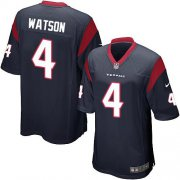 Wholesale Cheap Nike Texans #4 Deshaun Watson Navy Blue Team Color Youth Stitched NFL Elite Jersey