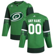 Wholesale Cheap Carolina Hurricanes Men's Adidas 2020 St. Patrick's Day Custom Stitched NHL Jersey Green