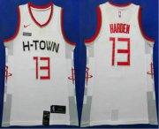 Wholesale Cheap Men's Houston Rockets #13 James Harden White 2020 Nike City Edition Swingman Jersey With The Sponsor Logo