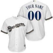 Wholesale Cheap Milwaukee Brewers Majestic Cool Base Custom Jersey White