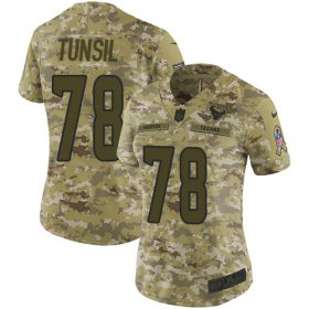 Wholesale Cheap Nike Texans #78 Laremy Tunsil Camo Women\'s Stitched NFL Limited 2018 Salute To Service Jersey