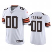 Wholesale Cheap Cleveland Browns Custom Men's Nike White 2020 Vapor Limited Jersey