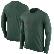 Wholesale Cheap Men's Green Bay Packers Nike Green Salute to Service Sideline Legend Performance Long Sleeve T-Shirt