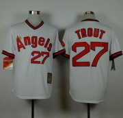 Wholesale Cheap Angels of Anaheim #27 Mike Trout White 1980 Turn Back The Clock Stitched MLB Jersey