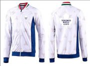Wholesale Cheap NHL Toronto Maple Leafs Zip Jackets White-3