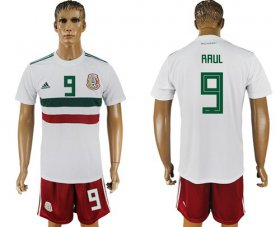 Wholesale Cheap Mexico #9 Raul Away Soccer Country Jersey