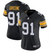 Wholesale Cheap Nike Steelers #91 Kevin Greene Black Alternate Women's Stitched NFL Vapor Untouchable Limited Jersey