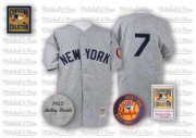 Wholesale Mitchell And Ness 1952 Yankees #7 Mickey Mantle Grey Stitched Baseball Jersey