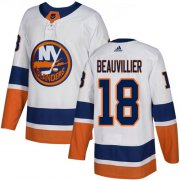 Wholesale Cheap Adidas Islanders #18 Anthony Beauvillier White Road Authentic Stitched NHL Jersey