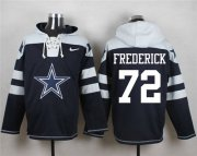 Wholesale Cheap Nike Cowboys #72 Travis Frederick Navy Blue Player Pullover NFL Hoodie