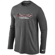 Wholesale Cheap Nike Tampa Bay Buccaneers Authentic Font Long Sleeve T-Shirt Dark Grey